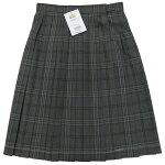 夏用スカートグレーチェック柄制服サマースカートW63〜80丈51トンボ学生服&be(アンビー)
