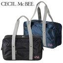 CECIL McBEE(セシルマクビー)ナイロンスクールバッグ ネイビー/ブラック 中学/高校 通学カバン スクバ B4サイズ【ラッキーシール対応】