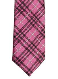 制服スクールネクタイ[KRN94]KURI-ORI(クリオリ)ピンクのチェック柄のスクールネクタイ【男女兼用】【ラッキーシール対応】