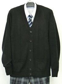カンコー学生服メンズスクールカーディガン・刺繍なしブラック【ユースラインND8622】【ラッキーシール対応】