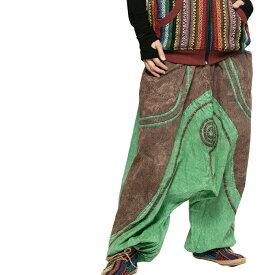 エスニック パンツ サルエルパンツ メンズ レディース アジアン ファッション ユニセックス ゆったり 大きめ ポケット 男女兼用