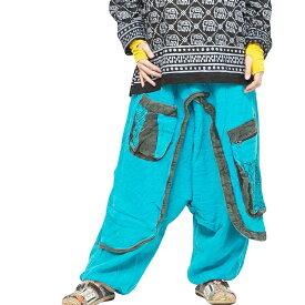 エスニック サルエルパンツ メンズ レディース エスニックファッション アジアンファッション ダンス ゆったり 大きめ 履きやすい