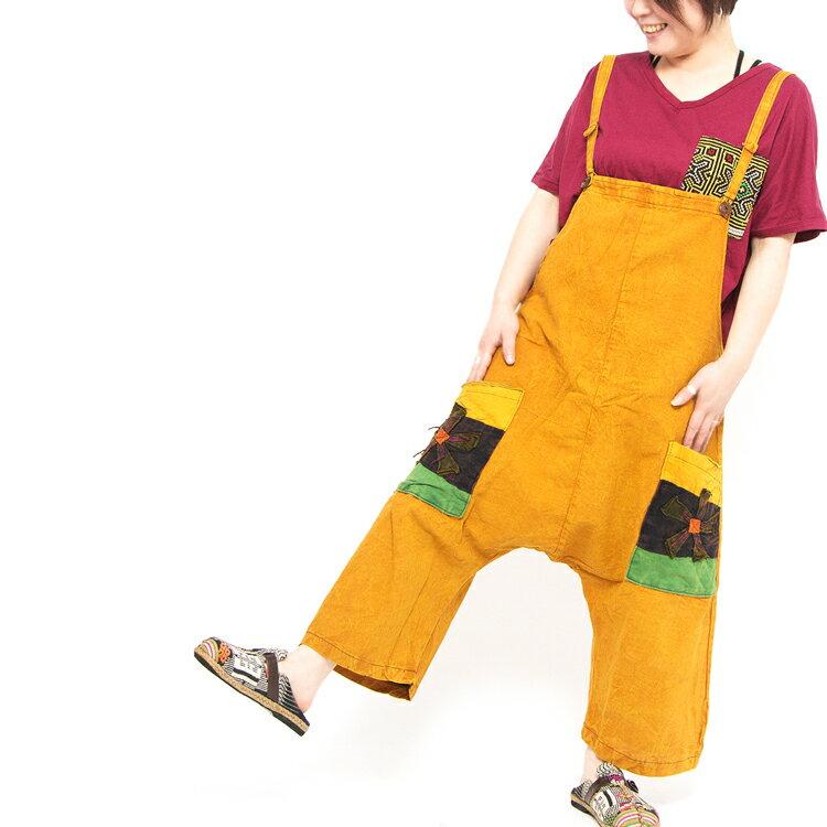 エスニック サロペット サルエルパンツ レディース エスニック ファッション アジアン ファッション かわいい フェス ファッション
