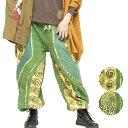 エスニック パンツ ロング メンズ レディース エスニックファッション アジアンファッション アラジンパンツ サルエルパンツ ダンス衣装 ゆったり 履きやすい