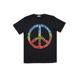 ピースマーク メーカーガンズ Tシャツ ファッション メンズ レディース 半袖 PEACE ピース ヒッピー サイケ 平和 ラブ&ピース LOVE&PEACE 皮肉 ジョーク