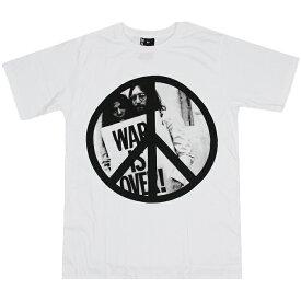 バンドTシャツ ジョンレノン ピース 【Tシャツ ファッション メンズ レディース ロックTシャツ ビートルズ 半袖 PEACE ヒッピー サイケ 平和 ラブ&ピース LOVE&PEACE 戦争 反戦】