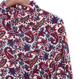 シャツ メンズ ペイズリー M L ペイズリー柄 メンズファッション カジュアルシャツ 長袖シャツ ちょいワル チンピラ ヤンキー オラオラ系 黒 大きいサイズ バンド ミュージシャン ステージ衣装 ロック