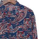シャツ メンズ 長袖 ペイズリー メンズシャツ カジュアルシャツ 長袖シャツ 柄シャツ 派手 オラオラ系 ヤンキー ちょいワル バンド ミュージシャン ステージ衣装 ロック ストーンズ スライダーズ