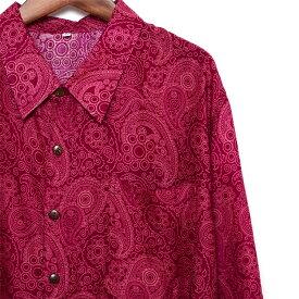 シャツ メンズ ペイズリー ピンク S M L XL メンズファッション カジュアルシャツ 半袖シャツ アロハシャツ 大きいサイズ バンド ステージ衣装 ストーンズ スライダーズ