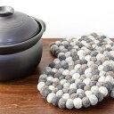 鍋敷き フェルト ポットマット 丸 四角 モノトーン キッチン用品 なべ敷き ポットマット おしゃれ かわいい 羊毛 厚手…