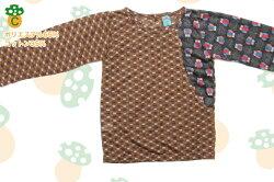 子供服Tシャツ長袖80〜130サイズキッズファッション男の子女の子ロンTチェックかわいい個性的おしゃれレトロ
