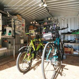 【ユーロ物置3029F2】「物置」「物置屋外」「物置おしゃれ」サイクルハウスバイクガレージ自転車置き場物置ものおき屋外おしゃれ収納庫小屋【ハンドブック付】