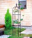 日本製 オベリスク 直径40cm×高さ220cm(埋め込み時200cm) BK-220 植木鉢 鉢 バラ ばら 薔薇