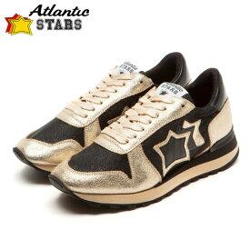 Atlantic STARS(アトランティックスターズ)ALHENA アレナ NCH-NY-NBNN ブラック×ゴールドビブラムソール レディース スニーカー