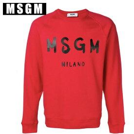 MSGM エムエスジーエムロゴ スウェット MM104 レッド メンズ ユニセックス手書きロゴ