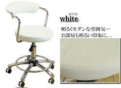 (ワークチェア3色対応)パソコンチェアオフィスチェア学習チェアカウンターチェアバーチェアチェアー椅子イス昇降式キャスター付きPUブラックホワイトブラウンシンプル