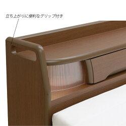 電動ベッド2モーター選べるマットレスオプションにて有料開梱設置ありLEDライト付き宮付きコンセント付き手摺り付き床面高さ4段階調節シングルセットマットレス介護ベッド電動リクライニングベッド介護ベッド電動介護用ベッド