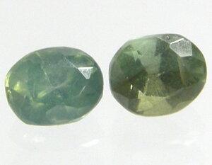 天然石 グリーンジルコン0.78ctペアー