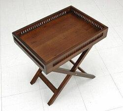 サイドテーブル/ウォールナット/引出し/木製/無垢/突き板/足/折れ脚/脚/コーヒー/リビング/
