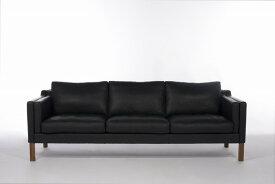 【保証付き】ボーエ・モーエンセン ダブルクッション ソファ 3p ファブリックT・R・C ウォールナット kaw-sf7224cftwal送料無料 北欧 モダン 家具 インテリア ナチュラル テイスト 新生活 オススメ おしゃれ 後払い ソファ sofa
