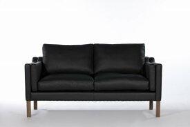 【保証付き】ボーエ・モーエンセン ダブルクッション ソファ 2p ファブリックT・R・C ウォールナット kaw-sf7224bftwal送料無料 北欧 モダン 家具 インテリア ナチュラル テイスト 新生活 オススメ おしゃれ 後払い ソファ sofa