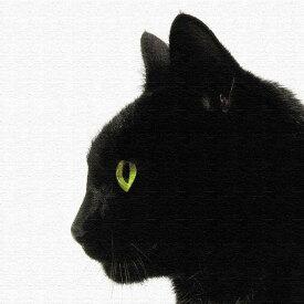 【スーパーセール対象商品】黒猫 アートボード アートパネル アートデリ Mサイズ 30cm×30cm lib-5109079s1送料無料 北欧 モダン 家具 インテリア ナチュラル テイスト 新生活 オススメ おしゃれ 後払い 雑貨