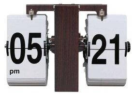 レトロ 置掛け兼用フリップクロック LUFT FLIP CLOCK WOOD 205x137x85mm SLW-020 bic-7376193s1送料無料 北欧 モダン 家具 インテリア ナチュラル テイスト 新生活 オススメ おしゃれ 後払い クロック 掛け 置き