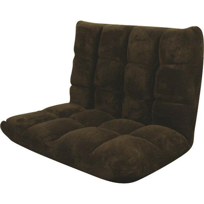 座椅子 もこもこワイドリクライナー チェア ブラウン az,fkc,005br 北欧 送料無料