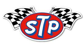 STPステッカー STPグッズ STP ロゴ フラッグ ステッカー STP005 アメリカン レーシングオイル ナスカー バイク