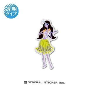 SHAG 透明 UKULELE WAHINI Sサイズ シャグ アート アーティスト ステッカー イラスト ライセンス商品 SHAG003 gs 公式グッズ