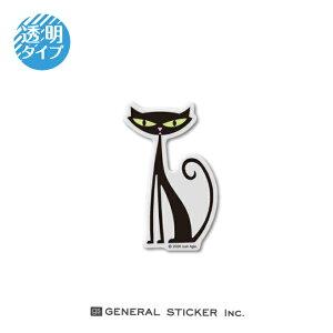 SHAG 透明 BLACK CAT Sサイズ シャグ アート アーティスト ステッカー イラスト ライセンス商品 SHAG018 gs 公式グッズ