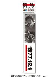アントニオ猪木X東スポ メモリアルステッカー 1977年12月1日 秘蔵写真 ミシン目カット 闘魂 記念 猪木ジャパン! プロレス ライセンス商品 IN076 gs 公式グッズ