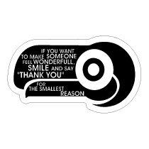 SWEET HEARTステッカー ★SM-29 ちょっとした事に「ありがとう」って言うだけで、人の気持ちを優しくすることもできるんだよ