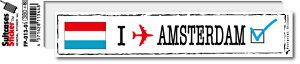 フットプリントステッカー FP013-01 アムステルダム AMSTERDAM スーツケース ステッカー トラベル グッズ