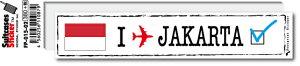 フットプリントステッカー FP015-02 ジャカルタ JAKARTA スーツケース ステッカー トラベル グッズ