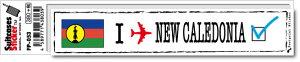 フットプリントステッカー FP053 ニューカレドニア New Caledonia スーツケース ステッカー トラベル グッズ