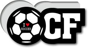 GSJ008 サッカーポジションステッカー センターフォワード CF