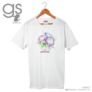 朝顔 Tシャツ サイズはM、Lの2種類 花 メッセージ レディースサイズ コロナウィルス対策 言葉 笑顔 幸せ アサガオ 癒し 願い イラスト GSJT023 gs グッズ