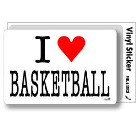 アイラブステッカー ILBT042 I love BASKETBALL バスケットボール