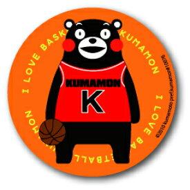 KUMA29 くまモン 76mm缶バッジ BASKETBALL スポーツシリーズ