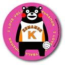 KUMA30 くまモン 76mm缶バッジ VOLLEYBALL スポーツシリーズ