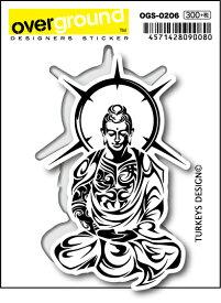 OGS0206 TURKEYS DESIGN 仏陀 トライバル アーティストグッズ イラストレーター ステッカー