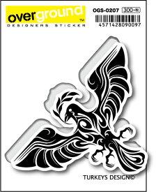 OGS0207 TURKEYS DESIGN 八咫烏 トライバル アーティストグッズ イラストレーター ステッカー