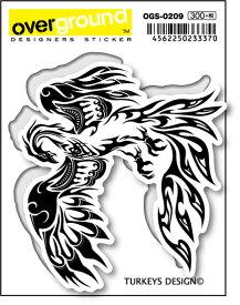 OGS0209 TURKEYS DESIGN フェニックス トライバル アーティストグッズ イラストレーター ステッカー