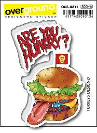 OGS0211 TURKEYS DESIGN ハンバーガー アーティストグッズ イラストレーター ステッカー