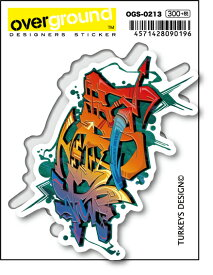 OGS0213 TURKEYS DESIGN 漢字 グラフィティ 紫電一閃 アーティストグッズ イラストレーター ステッカー