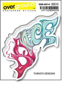 OGS0214 TURKEYS DESIGN グラフィティ 裂けるダンス アーティストグッズ イラストレーター ステッカー