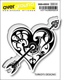 OGS0203 TURKEYS DESIGN ハート トライバル アーティストグッズ イラストレーター ステッカー
