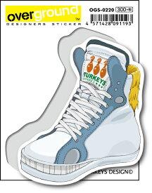 OGS0220 TURKEYS DESIGN Fantastic Derby ホワイト アーティストグッズ イラストレーター ステッカー