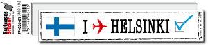 フットプリントステッカー FP036-01 ヘルシンキ HELSINKI スーツケース ステッカー トラベル グッズ